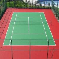 Quality PU Sport Court Surface , Resurfacing Tennis Court All Weather Outdoor Flooring  for sale