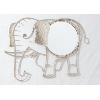 Quality Living Room Rose Gold Elephant Mirror Wall Decor for sale