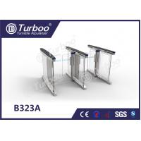 Buy cheap Anti - Collision slience multiple Smart glass office  barrier optical low cost pedestrian  turnstiles product