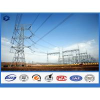 Buy cheap Galvanized Framework Electric Substation Structure Components Steel Pole product