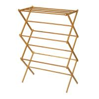 Buy cheap Portable Wooden Laundry Drying Rack , Bamboo Clothes Rack Earth Friendly product