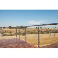 Buy cheap Balcony Railing Glass Price m2, Stainless Steel Square Pipe Railing Design product