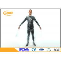 Buy cheap Clear / Orange PE Slim Body Sweat Suit For Weight Loss , Workout Sweat Suit product