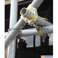 Buy cheap Putlog Drop Forged Double Coupler Zinc Plated Finishing At 90 Degree Right Angle product