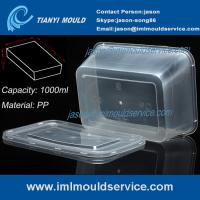 Quality PP 1000ml thin wall disposable rectangular plastic food box/ transparent for sale