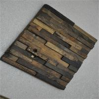 Buy cheap Boat Wood Mosaic Wall Panels , 3D Ceiling Tiles For Hotel Decoration product