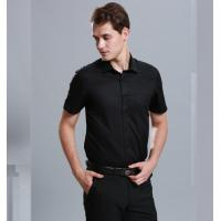 China 100% Cotton Casual Work Uniforms , Durable Short Sleeve Black Work Shirt For Men on sale