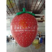 Buy cheap Red 3m Height Strawberry Shaped Balloons With Digital Printing For Promotion product