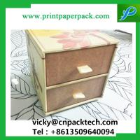 China Custom Recyclable  Sliding Double Drawer Handmade Jewelry Packaging Paper Box Paperboard Gift Box with Ribbon Handle on sale