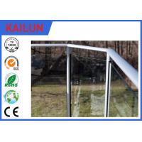 Buy cheap Balcony Handrail Extruded Aluminum Fence , 35 Mm Dia Anodized Aluminium Balustrade Profiles product