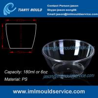 Buy cheap clear small thin wall PS Disposable Plastic Bowls mould with 180ml from wholesalers