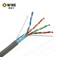 Buy cheap OWIRE High Speed pull box of 305m 24AWG F/UTP Bulk CAT5E Ethernet Cable PASS FLUKE TEST product