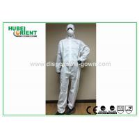 Splash Proof Protective Disposable Coveralls Type 5 , Chemical Coverall Suit