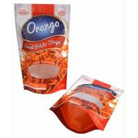 Aluminum Foil Packaging Zip Lock Bags With Clear Window Moisture Proof