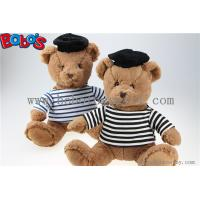 Buy cheap Navy Teddy Bear Plush Gift Soft Bear Toys with Sailor's Striped Shirt and Black Cap product