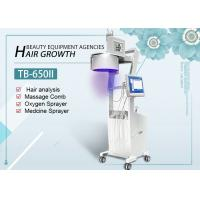 Buy cheap LED Lights 650nm 808nm Diode Laser Hair Growth Machine With Hair Skin Analyzer product