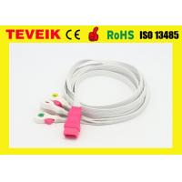 China Disposable 5 leads ECG cable / ECG leadwire  with clip,IEC,6pin for all brand wholesale