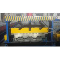 Buy cheap Galvanized Steel Floor Deck Roll Forming Machine With Coiler Car ,  Floor Tile Making Machine product