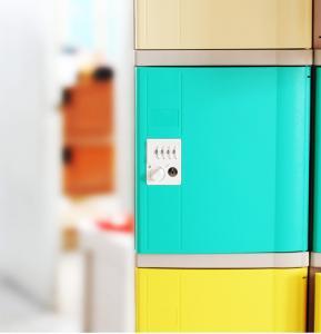 Buy cheap Vandal Resistant Green School Lockers , Swimming Pool Small Plastic Lockers product