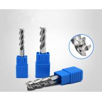 Buy cheap Aluminium Copper Processing Spiral Carbide End Mill HRC55 3 Flute Long Cutting product