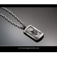 Buy cheap silver shinny laser cut custom shape stainless steel dog tag for handbag product