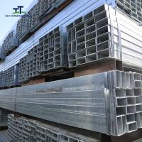 China 25*50mm SHS RHS Galvanized Rectangular Tubing High Weight Bearing With Grooves on sale