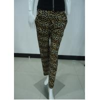 Buy cheap Leopard Print Women'S Fashion Leggings Ladies Velvet Trousers / Pants With Side Pockets product