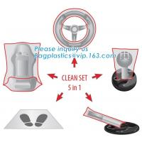 Buy cheap Protective automobile products steering wheel cover, Protector set steering wheel gearstick airbrake seat cover foot mat product