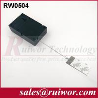 Buy cheap Sticky Metal Plate Retractable Security Tether For Market Anti Theft 45 Gram product