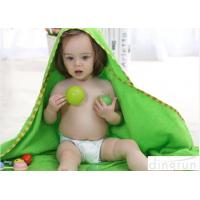 Professional Green Color Baby Hooded Towels With Animal Hood 90*90cm