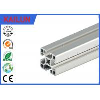 Buy cheap Silver Anodized Square T Slot Aluminum Linear Rail For Coach Framing System 40 Mm Width product