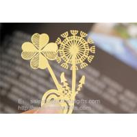China Exquisite etched copper page markers wholesale, custom etching metal bookmarks wholesale