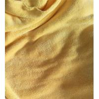 Buy cheap Microfiber 150cm width 550gsm Yellow Coral Fleece High Quality 150D/144F Cleaning Cloth product