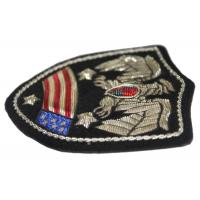 China Flags Banners Embroidered Applique Patches , Bullion Wire Badges For Shoulder wholesale