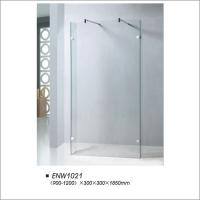 Buy cheap Frameless Walk In Shower Screen With Two Side Door Tempered Glass OEM / ODM product