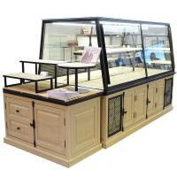 China Customized Bakery Glass Display Case High Temperature Resistance With Led on sale
