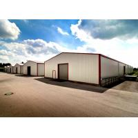 China Africa Popular Durable Steel Garage Buildings / Custom Metal Buildings Labor Saving on sale