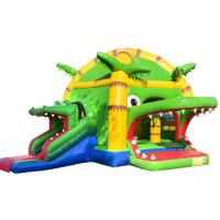 Buy cheap Scary Crocodile Kids Inflatable Bounce House In Public 5.2 * 5.9 * 4.5 Customized product