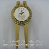 China Metal Golf Pitch Mark Repair Tool with Enamel Ball Marker, Metal Golf Pitch Forks wholesale