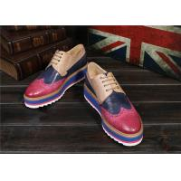 Buy cheap Women'S Lace Up Oxford Dress Shoes , Color Blocking Ladies Platform Brogues product