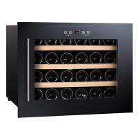 China 24 Bottles 56L Wine Cooler Single Zone Build in cooler wholesale