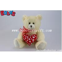 Quality Personalized Valentines day Teddy Bear With Red Heart Pillow for sale