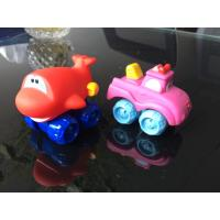 Buy cheap Vinyl Pushing Inertia Vehicle Toys Custom Pull-back racer car toys Pullback truck vinyl toy product