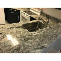 Buy cheap Customized Polished white marble like book match Solid Stone Countertops product