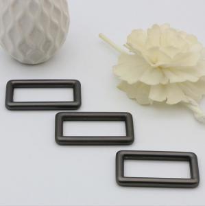 Buy cheap High End Handbag Hardware Gunmetal Color 38 MM Zinc Alloy Square Ring Buckle product