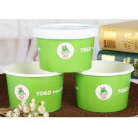 Buy cheap Double PE Coated Disposable Ice Cream Cups With Lids , Paper Ice Cream Bowls product
