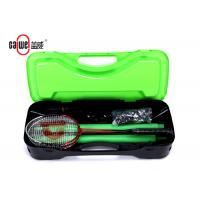 Buy cheap Outdoor Portable Badminton Set PP Material Easy To Fold Up Orange Black Color product