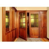 Buy cheap Double Wood And Glass Front Door Single Swing Open Style For Living Room product