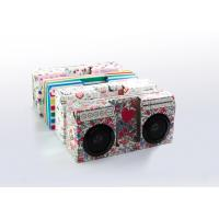 China Mini Paper Folding Speaker Box/Foldable Paper Boom Box Speaker/Portable paper speaker on sale