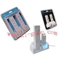 Buy cheap Blue Light Double Charge Stand for Wii(With 2 PCS 2800mah Rechargeable Battery)(HYS-MW080) product